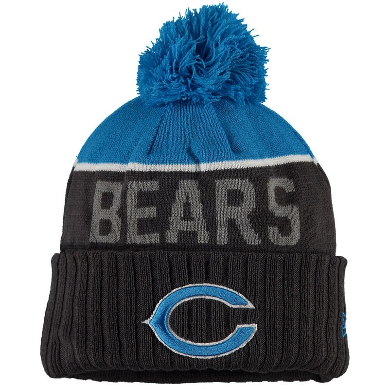 76614d740cd5b Chicago Bears New Era Snapshot Sport Knit Hat - Graphite Blue. Find this  Pin and more ...