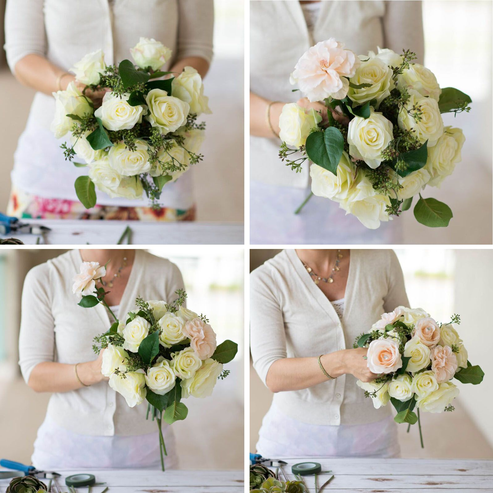 Diy Wedding Ideas Make Your Beautiful Bouquet With Silk Wedding