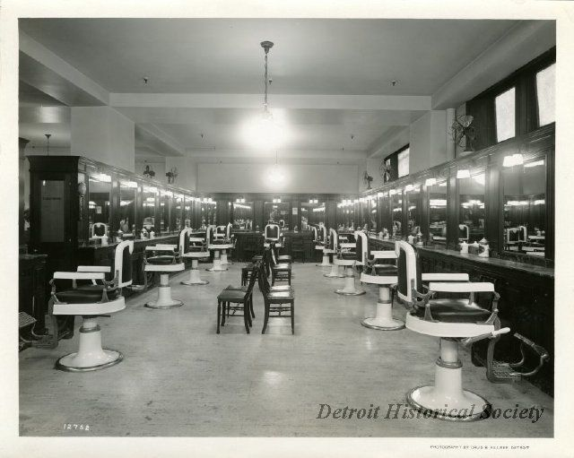 sepia toned photographic print of the interior of the men s barber rh pinterest com