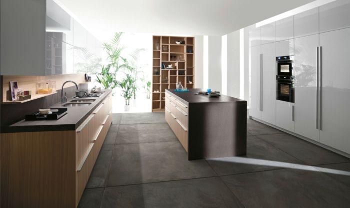 küchendesign küche bodenfliesen freistehnde kücheninsel | küche ... - Bodenfliesen Für Küche