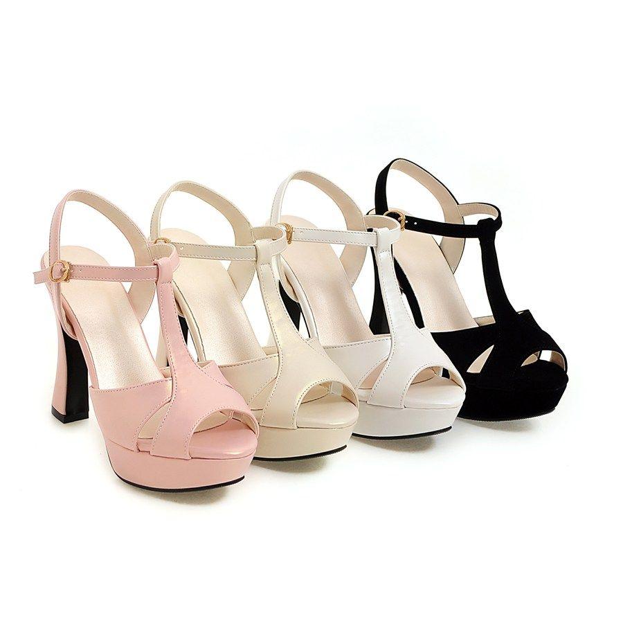 Fashion Women Summer Casual High Heel Sandals Fancy Ladies Daliy Wear Custom Dress Shoes Casual High Heels Heels Platform Sandals [ 900 x 900 Pixel ]