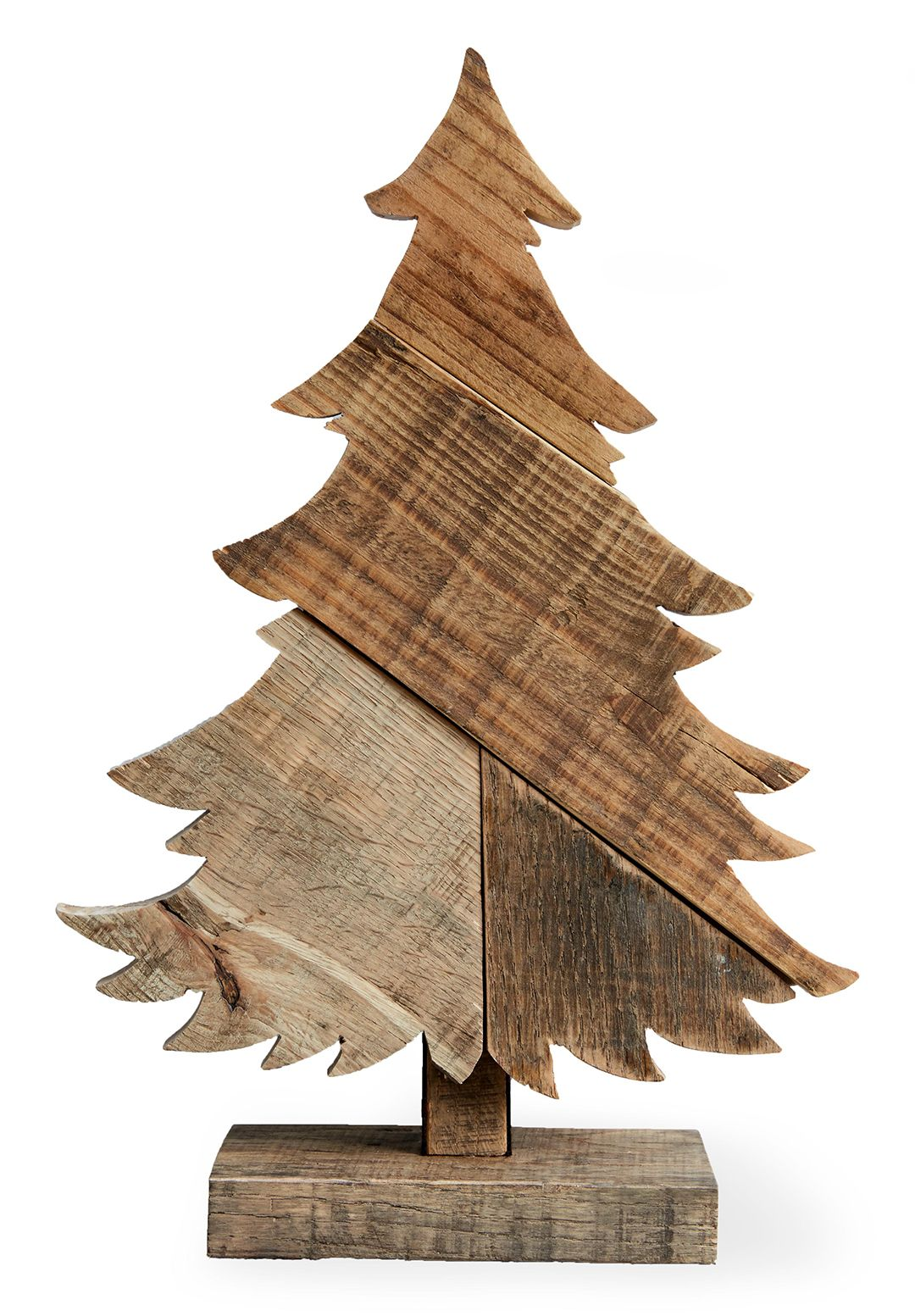 Make This Wood Tree Centerpiece In Time For Christmas Wood Christmas Tree Christmas Wood Crafts Wood Tree
