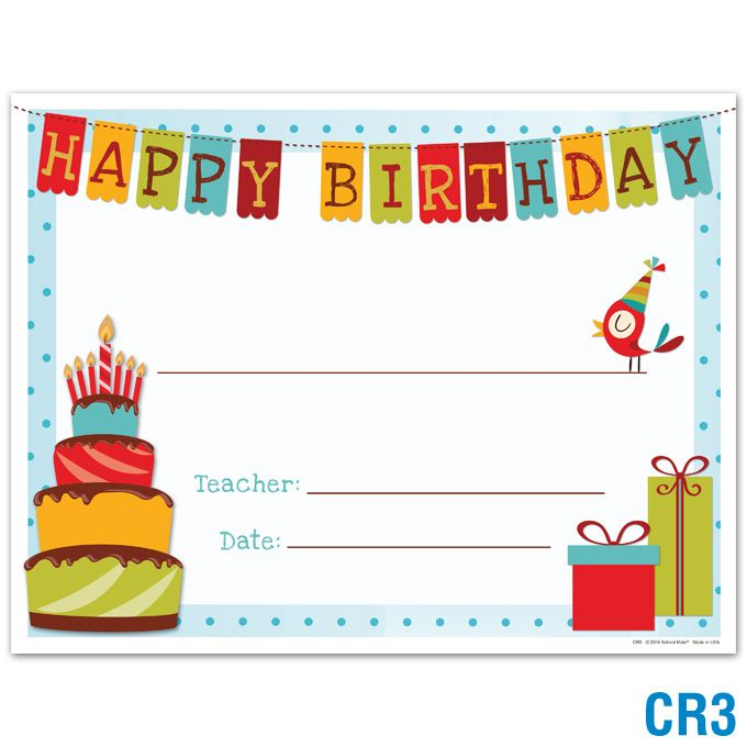 Image Result For Birthday Certificate Printable Classroom Set Up