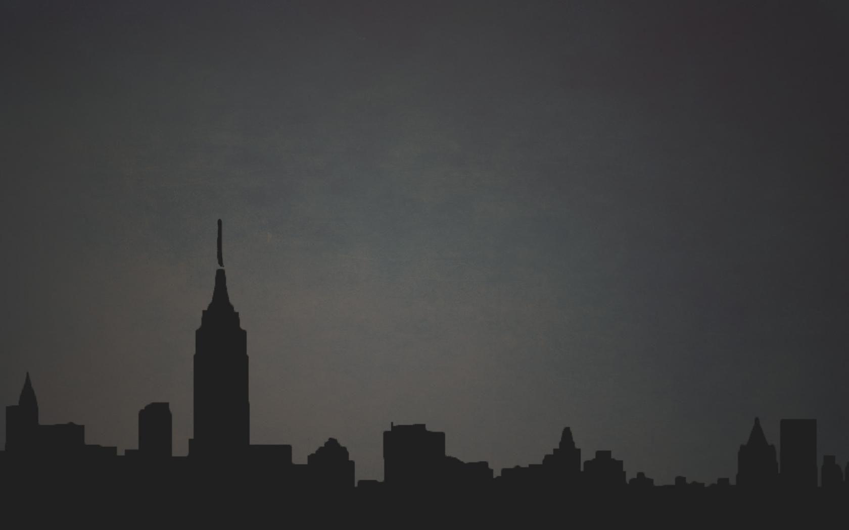 Город, минимализм, темный фон обои для рабочего стола ...