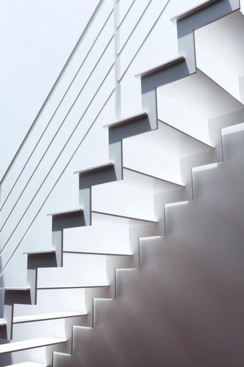 pinterest.com/fra411 #stairs - Twin Megaphones residence, Tokyo, designed by Japanese firm Atelier Tekuto.