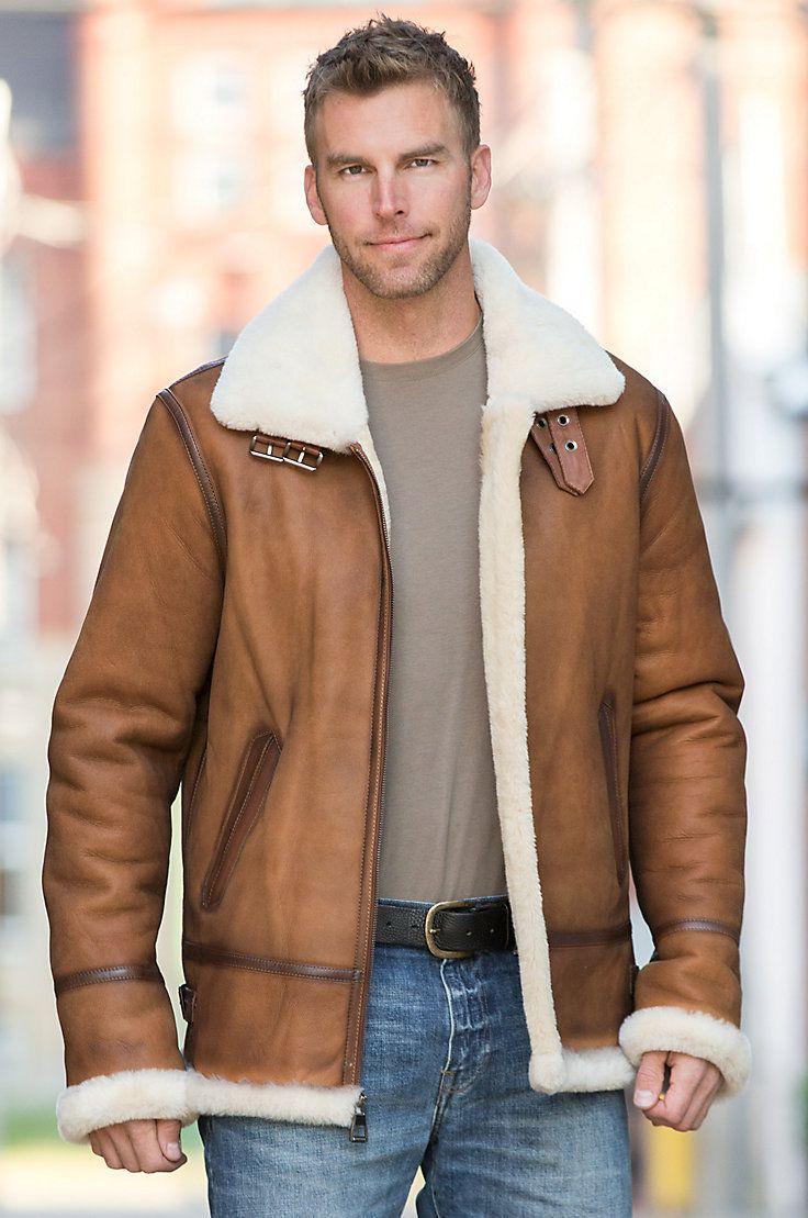 Jason Sheepskin B 3 Bomber Jacket Jackets Men Fashion Leather Jacket Men Shearling Jacket Outfit [ 1109 x 736 Pixel ]