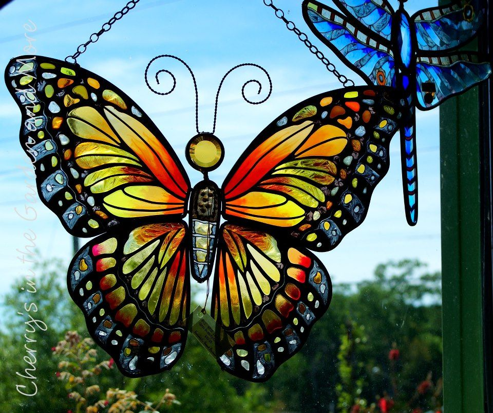 .stained glass butterfly