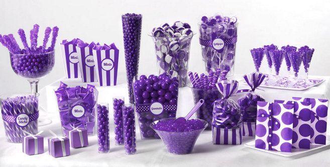 Purple Candy Buffet - Party City-#Buffet