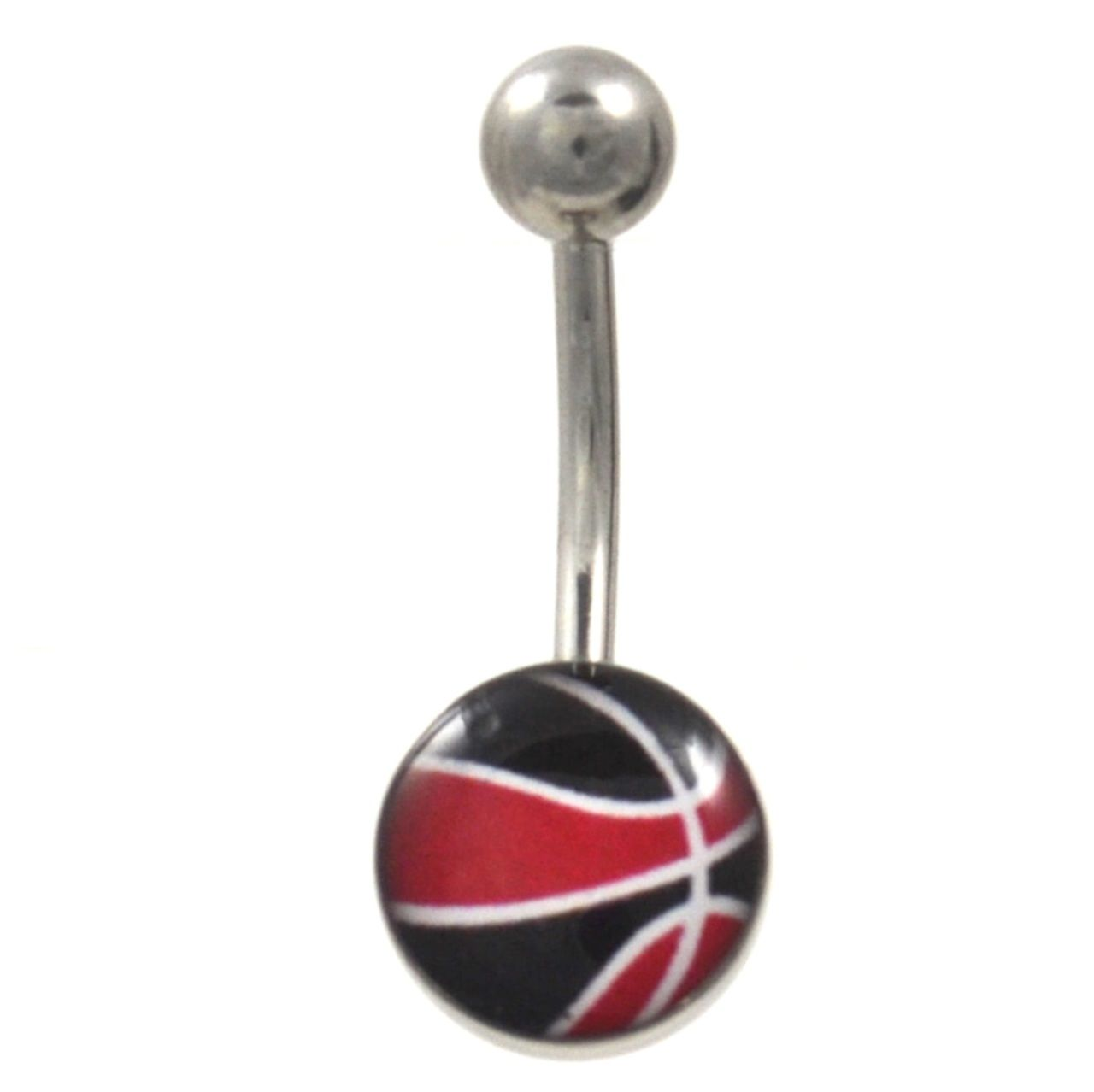 Black around belly piercing  Black u Red Basketball NonDangle Belly Ring  Chicago basketball