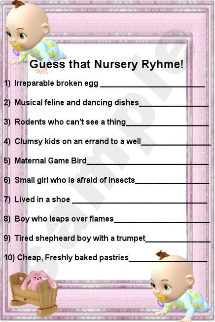 starlas design and e cards baby shower games finish the nursery rhyme