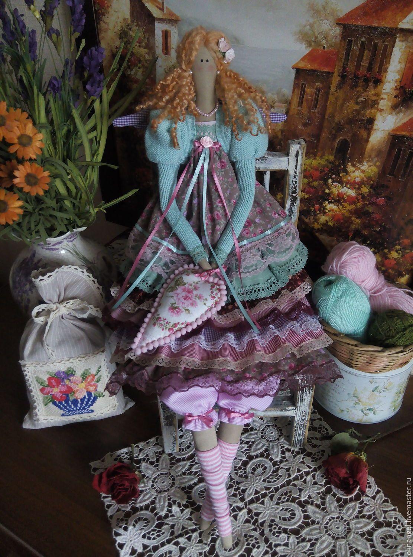 Купить Тереза текстильная кукла - тильда, кукла ручной работы, кукла интерьерная, кукла в подарок