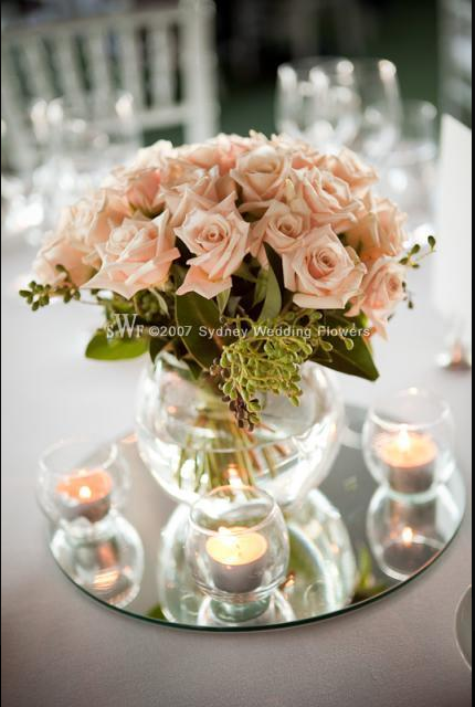 vase mirror base and tea light candles boda ideen f r die hochzeit rh pinterest at