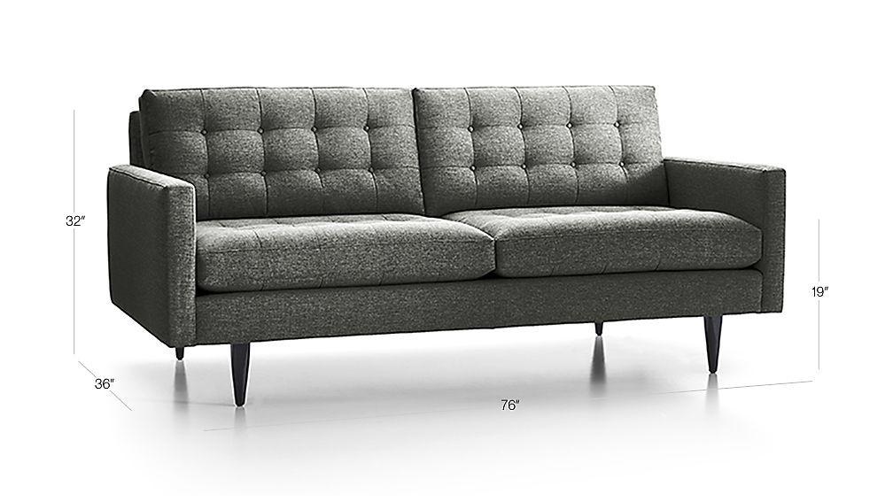 petrie midcentury apartment sofa the living space by brooklyn lola rh pinterest com