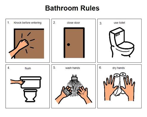 School Bathroom Rules boardmaker achieve | education | pinterest | autism, school and