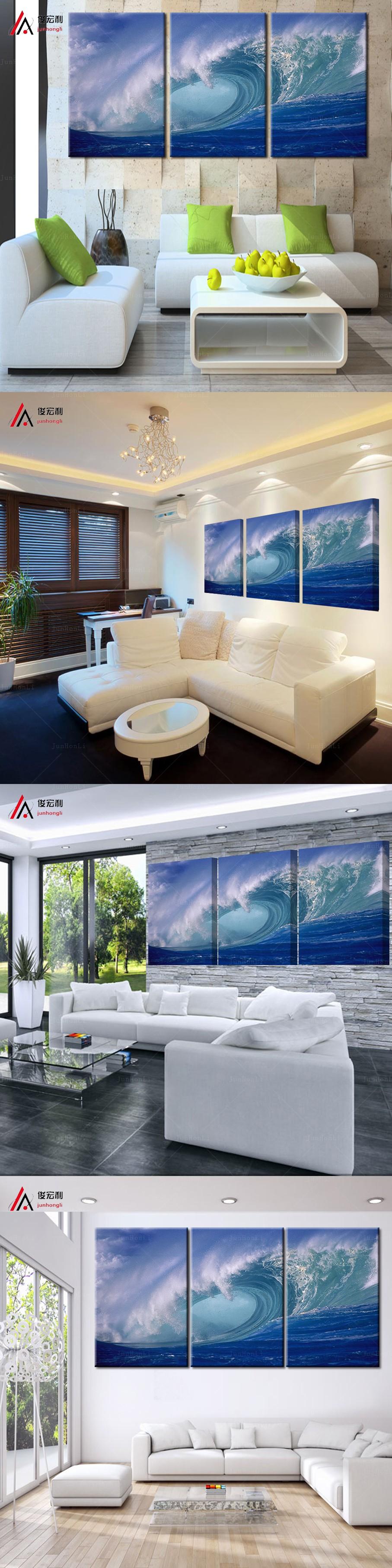 3 Plane Abstract Sea Wave Modern Home