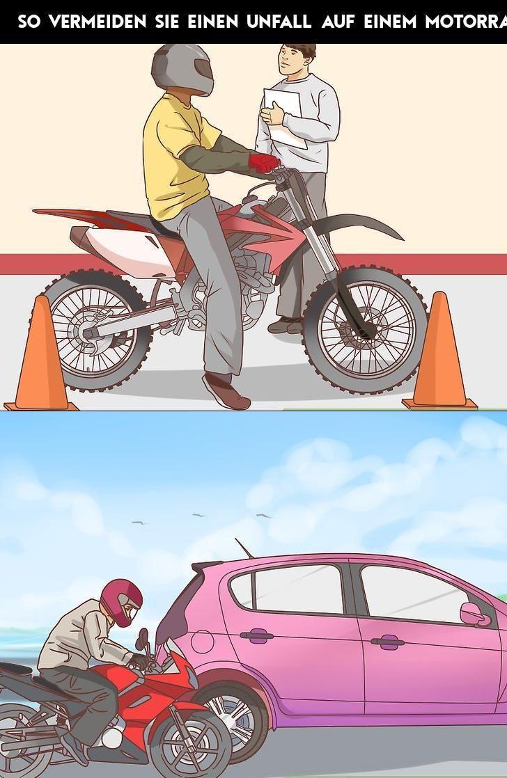 So vermeiden Sie einen Unfall auf einem Motorrad -