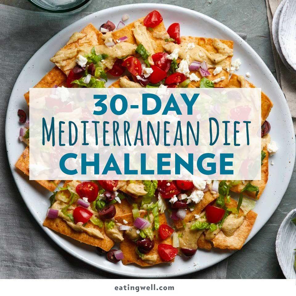 30 Day Mediterranean Diet Challenge Easy Mediterranean Diet Recipes Mediterranean Diet Meal Plan Mediterranean Diet Recipes
