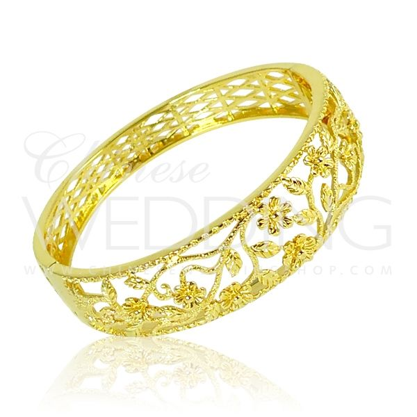 RP Chinese Gold Wedding Bangle Chinese Wedding Customs