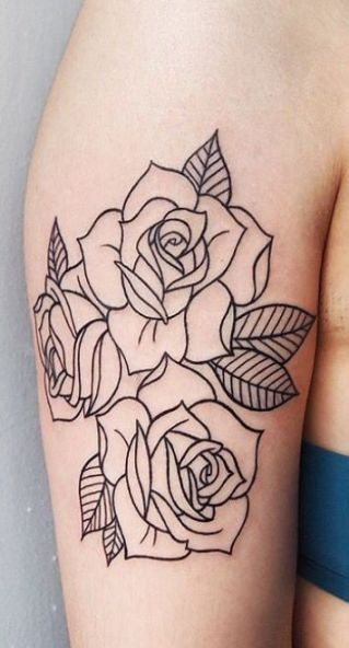 27 Ideas For Tattoo Simple Thigh Rose Outline Rose Outline Tattoo Tattoos Tattoo Outline