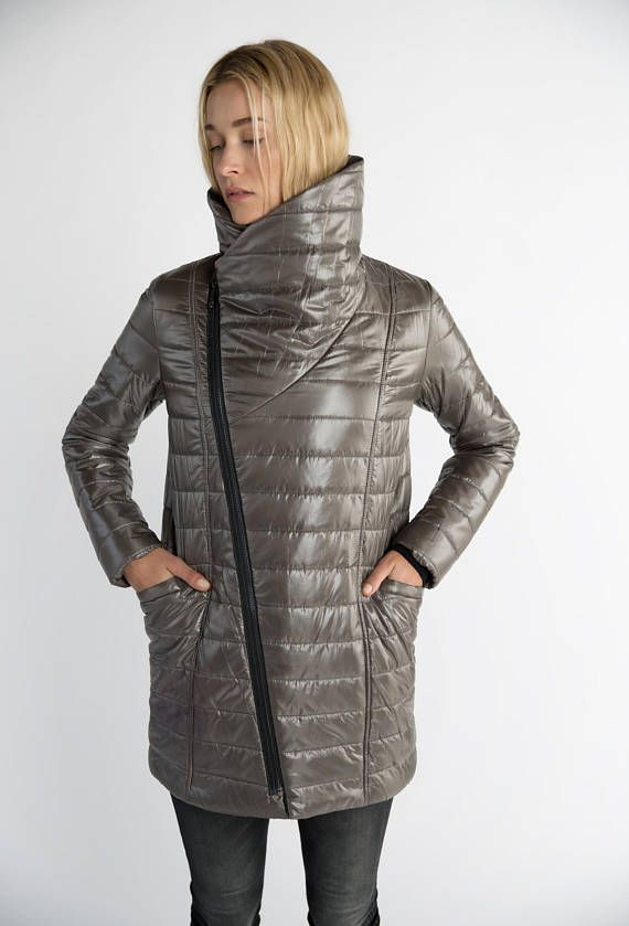 0a80e2fdb5e6 Puffer jacket. With an asymmetric zipper and high collar. marcellamoda  jackets  wintercloathing outfit xmasoutfit