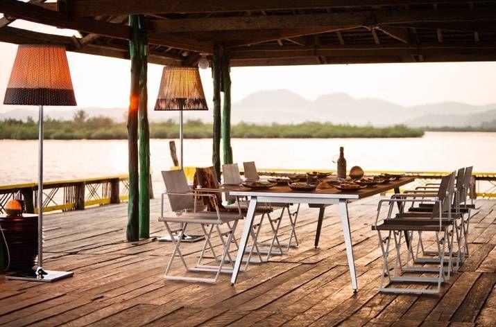 Dedon SeaX Beistelltisch, hochwertige Outdoor Gartenmöbel SeaX von