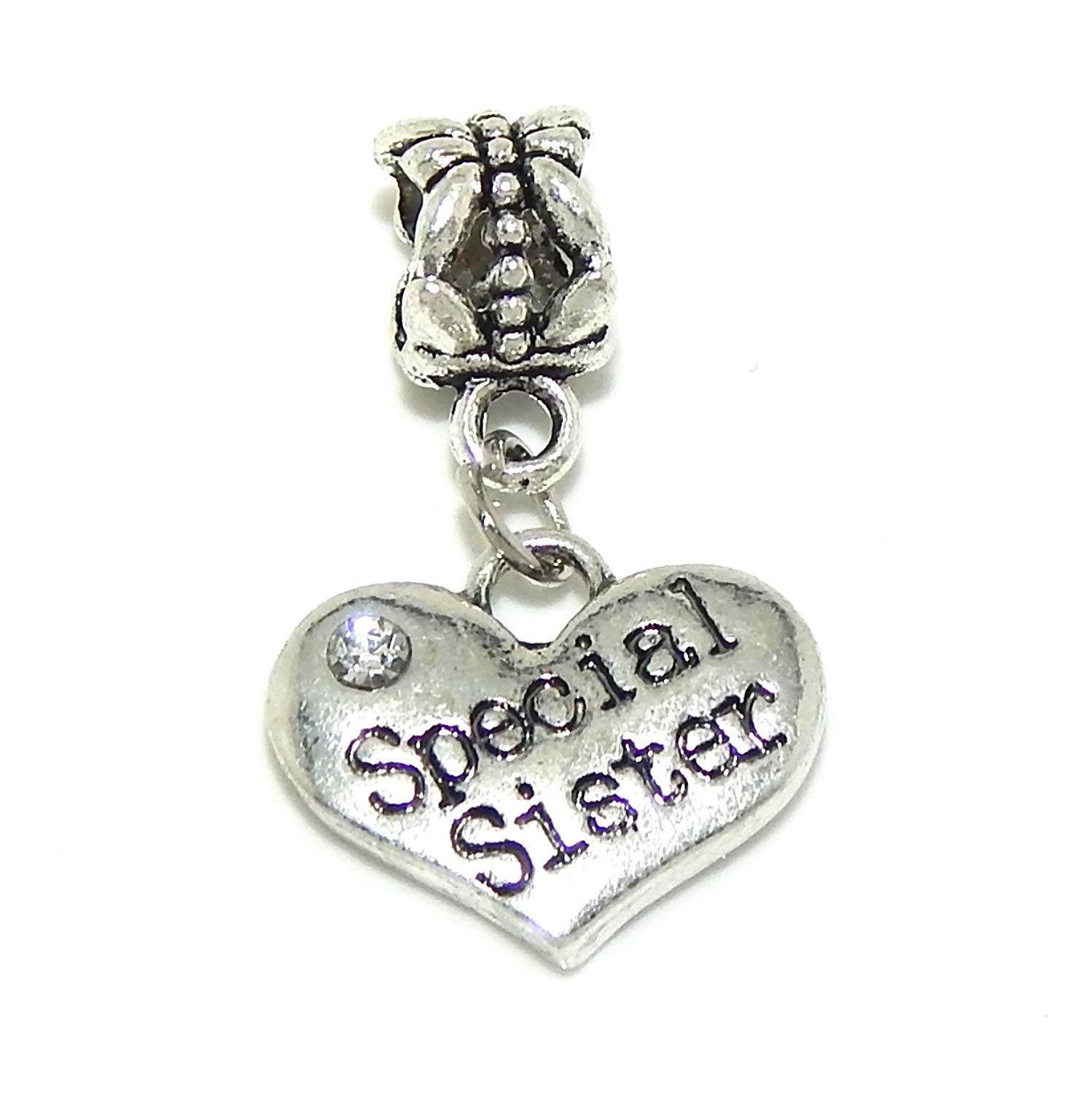 b3411bf42 Pro Jewelry Dangling 'Special Sister Heart' Charm Bead for Snake Chain  Charm Bracelet 00174 >>> Check out the image by visiting the link.