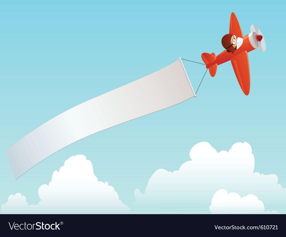 Plane With Banner Cartoon Cartoon Airplane Best Banner Design Banner Design