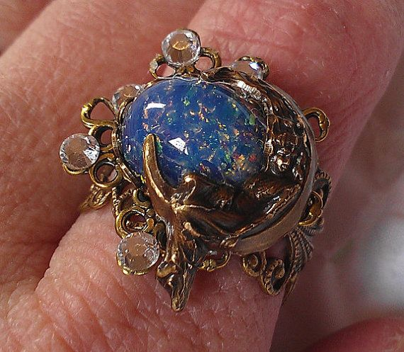 Starry Night Statement Ring Adjustable by WonderWhimsyWired, $28.00