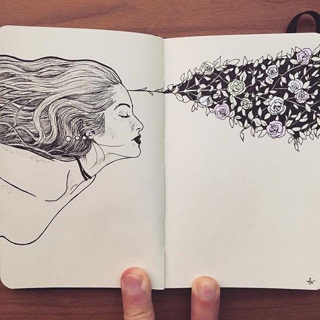 """Sketch No.10 """"Beautiful Mind""""  Model: @nuhabhura"""