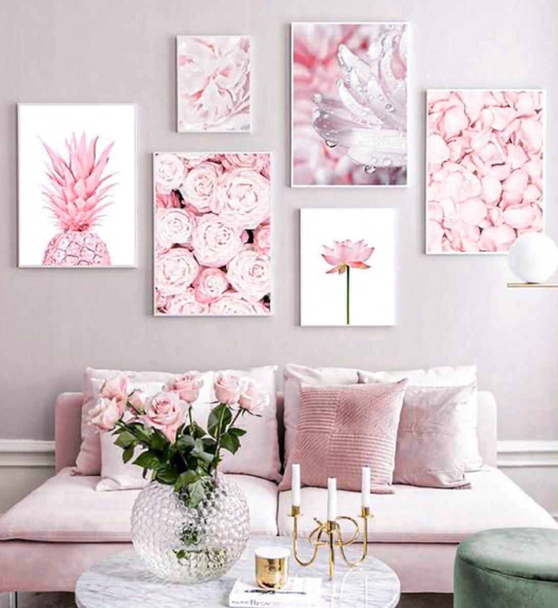 How To Add Pink Decor To Create A Chic Home Diy Darlin Pink Home Decor Wall Art Living Room Pink Decor