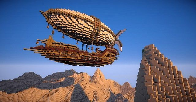 Centurious Class Airship Minecraft World Save | Video games