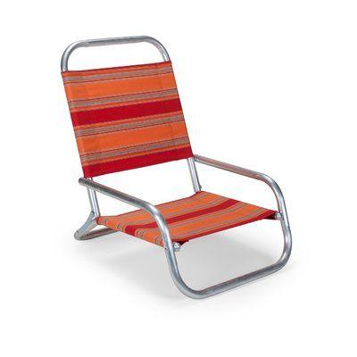 d46f4e9f6e0c Telescope Casual Sun and Sand Beach Chair Seat Color: Atlantic Blue Stripe,  Frame Color: Gloss White