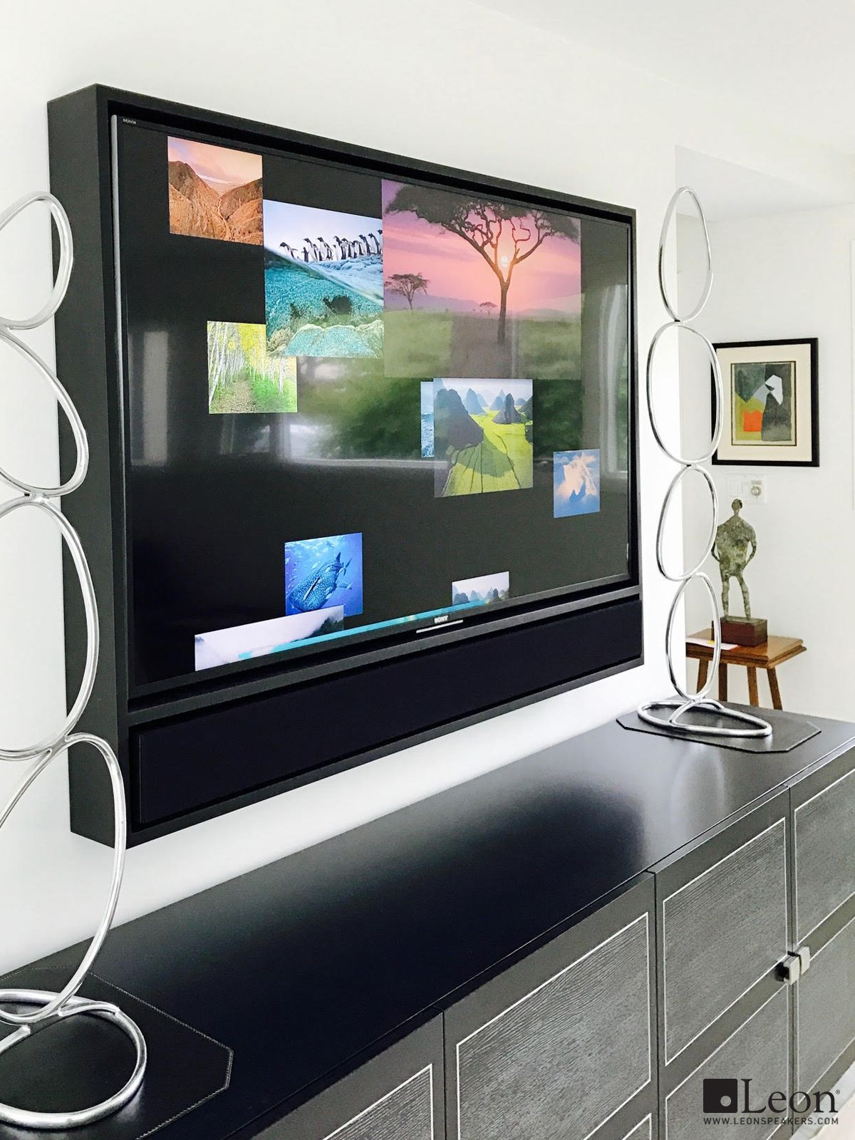 Enhance any display with the Edge Media Frame, a contemporary frame ...