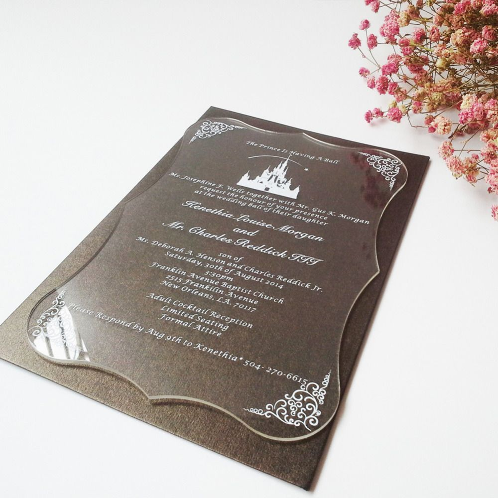 sample of wedding invitation letter%0A  Free Shipping  Buy Best Sample order for Clear acrylic wedding invitation