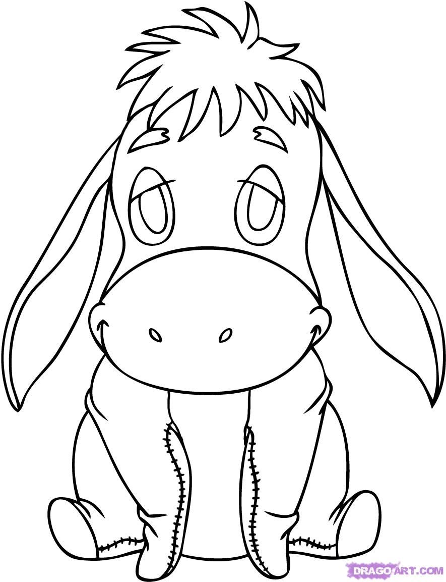 Line Drawing Disney : Eeyore drawing google search art pinterest