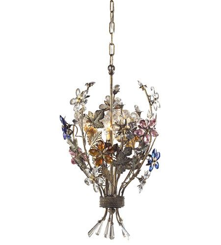 Floral chandelier available Statements In Tile/Lighting/Kitchens/Flooring.