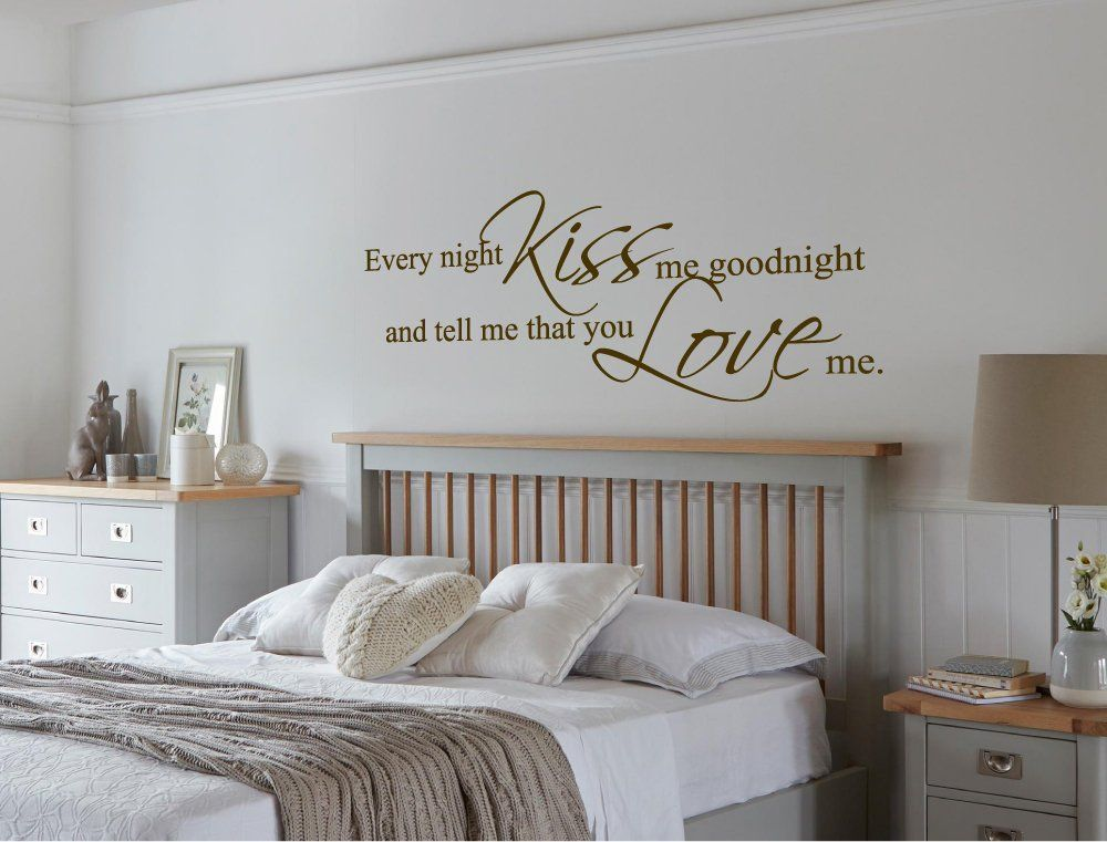 every night kiss me goodnight wall sticker kiss me goodnight wall rh pinterest com