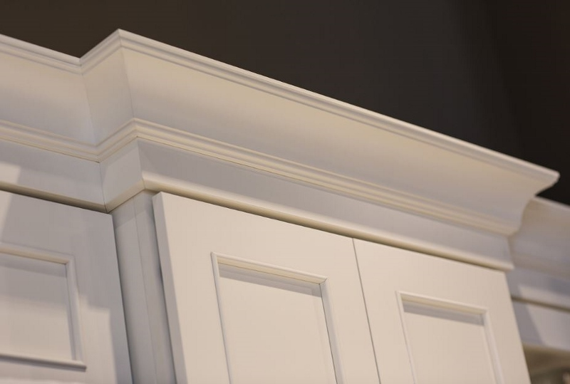 Large Beaded Cove Molding And Profiled Solid Stock Create A 2 Piece Crown Kitchen Cabinet Crown Molding Crown Molding Kitchen Crown Moulding Kitchen Cabinets