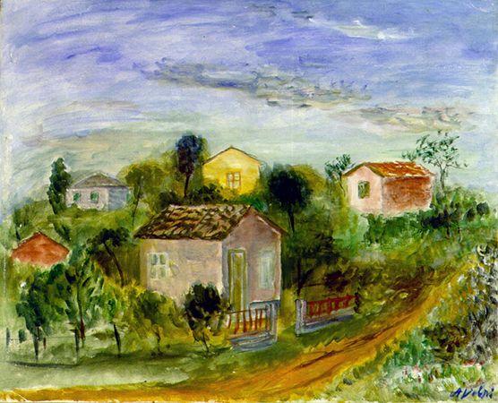 [Sem Título] fim da década 1930 | Alfredo Volpi óleo sobre tela, c.i.d. 65,3 x 80,9 cm Reprodução fotografica Romulo Fialdini
