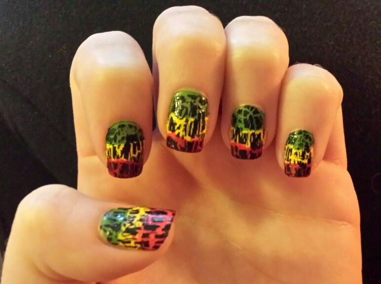 Rasta nails! | rasta | Pinterest