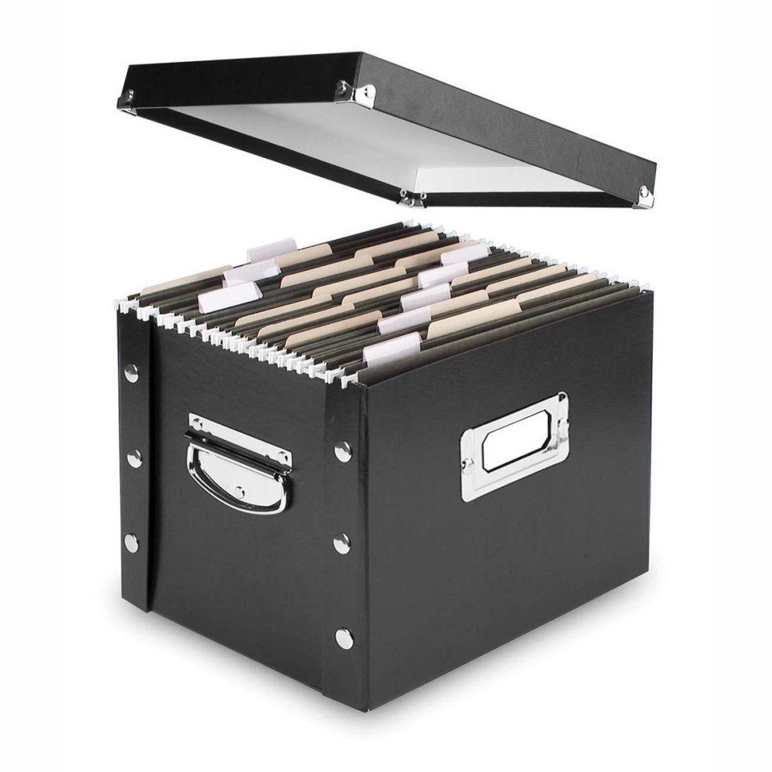 Amazon.com: Snap-N-Store Letter-Size File Box, Black ...