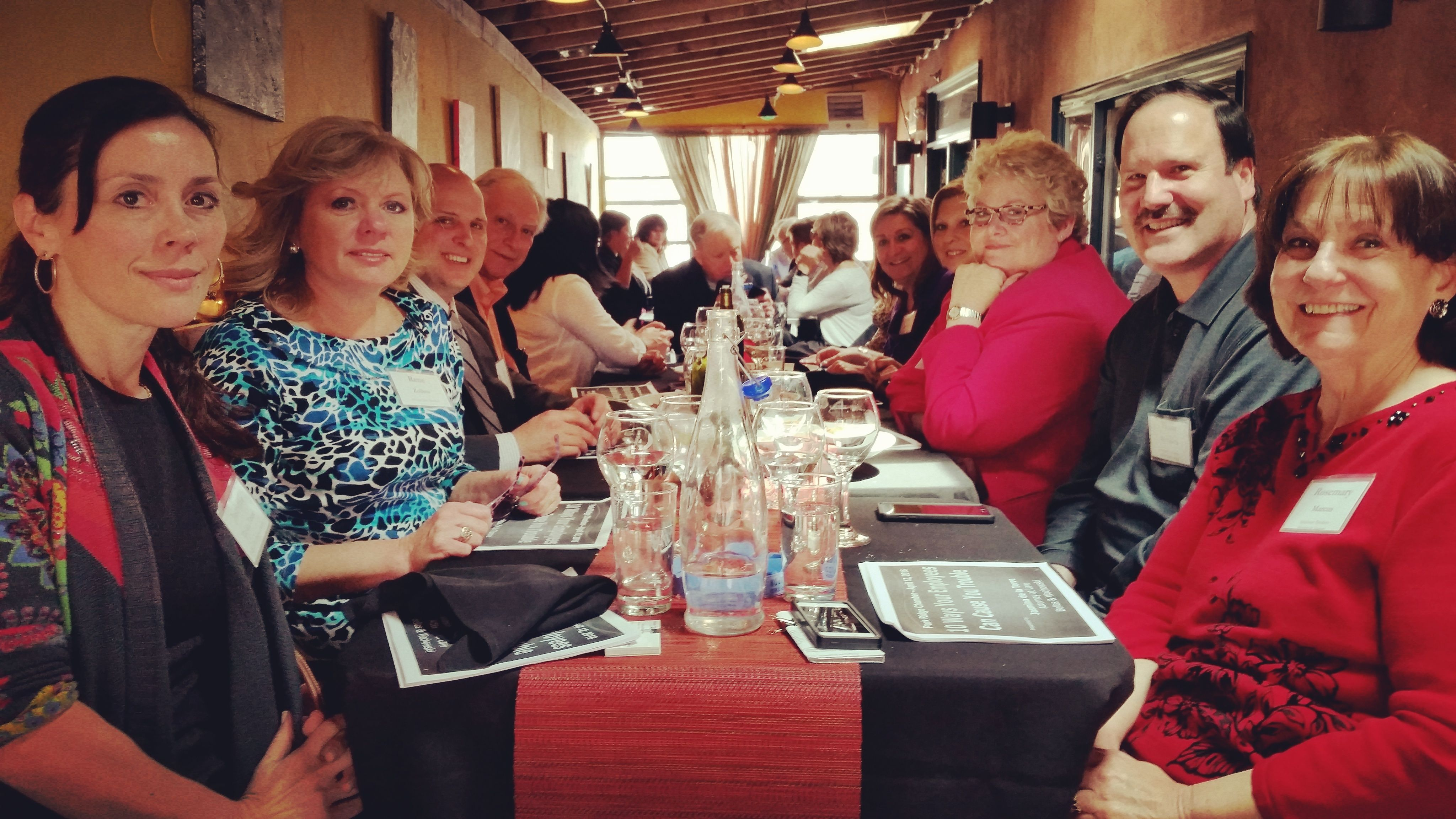 Great photo of the group from our Monthly Networking Luncheon at Affresco. Everything was delicious!