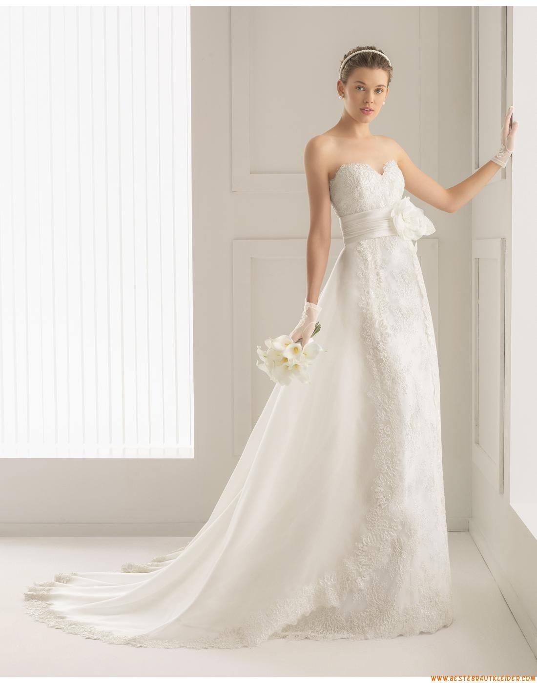 Glamouröse Dramatische Moderne Brautkleider aus Spitze mit Schelppe ...