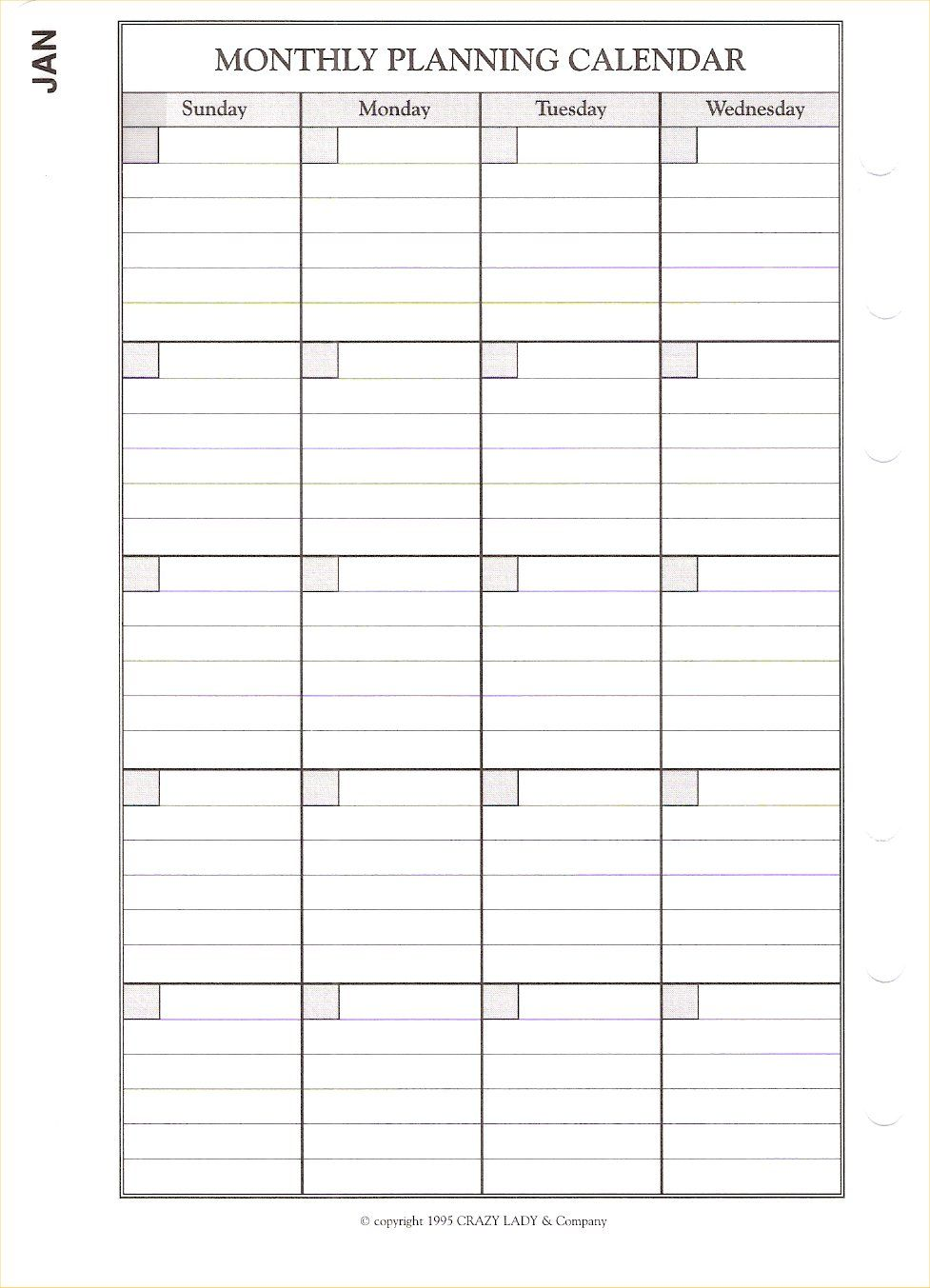 Plan Calender Monthly Planning Calendar 4 00 Sold Out