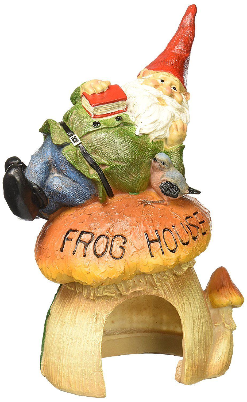 Design Toscano Gnome's Frog House Garden Statue Garden