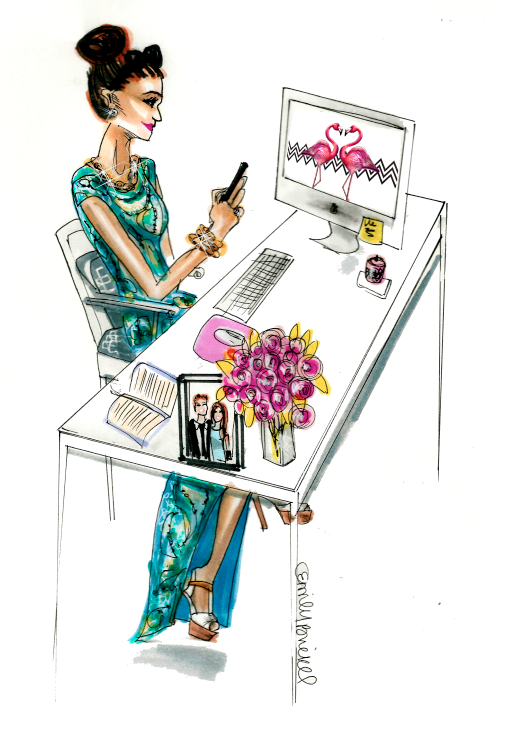 The Gap Between Taste And Ambition Illustration By Emily Brickel Https Www Etsy Com Shop Emilybrickel Chic Illustration Illustration Fashion Sketches