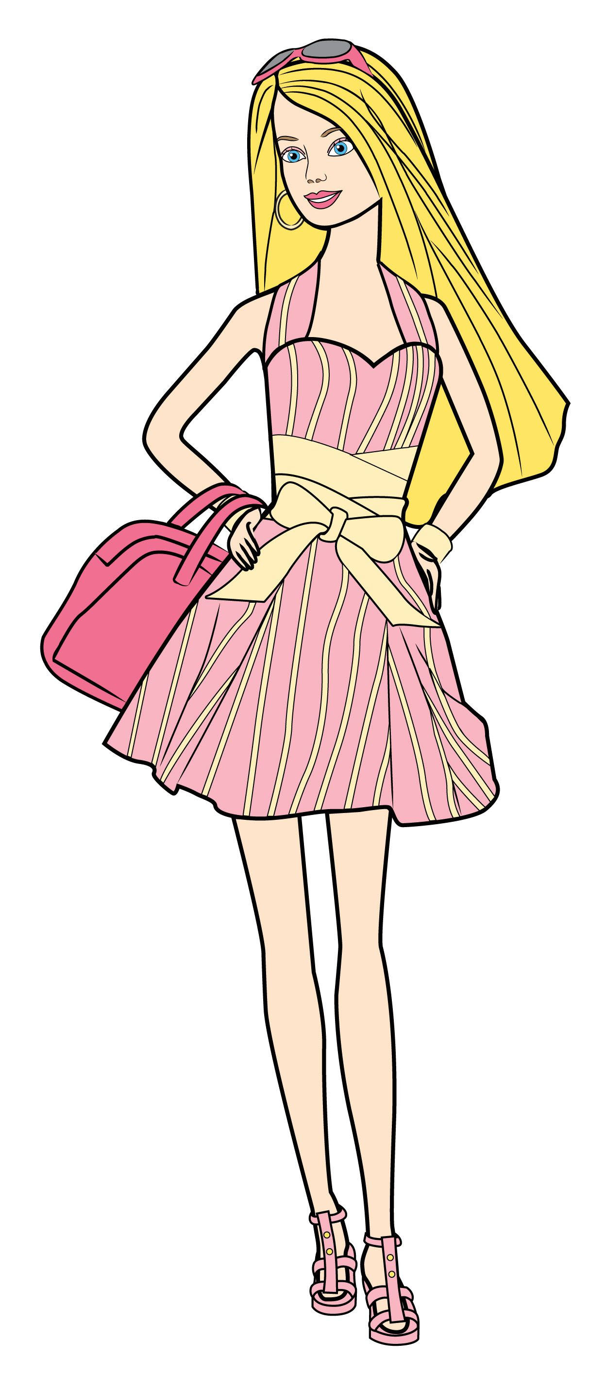 How to draw barbie via wikihow com