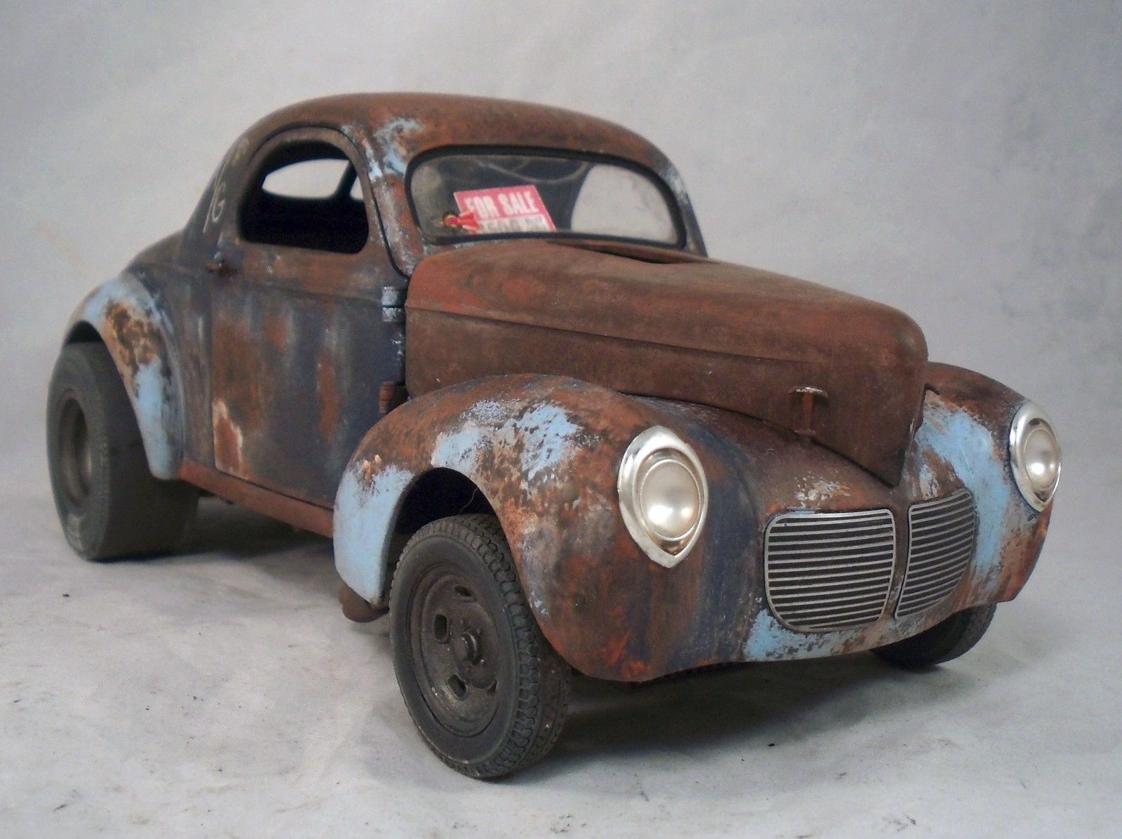 1940 Willys Filthy Forty Weathered Barn Find Drag Car Rat Rod 1 18 Diecast Acme