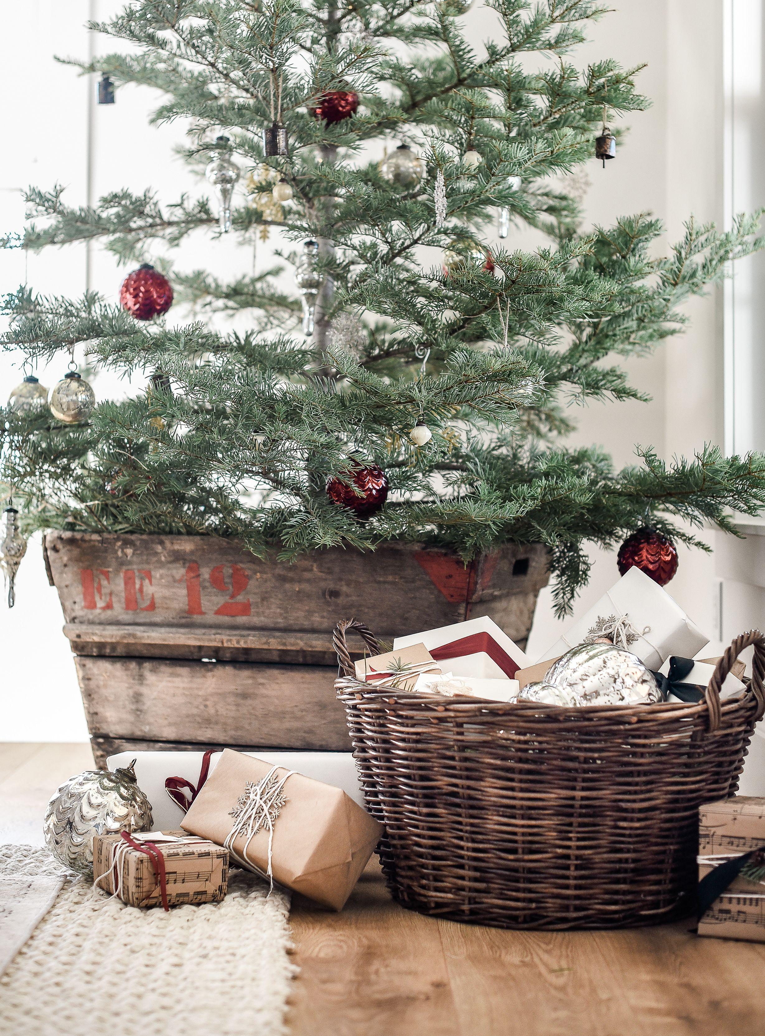 farmhouse christmas decor living room tree ideas happy rh pinterest com