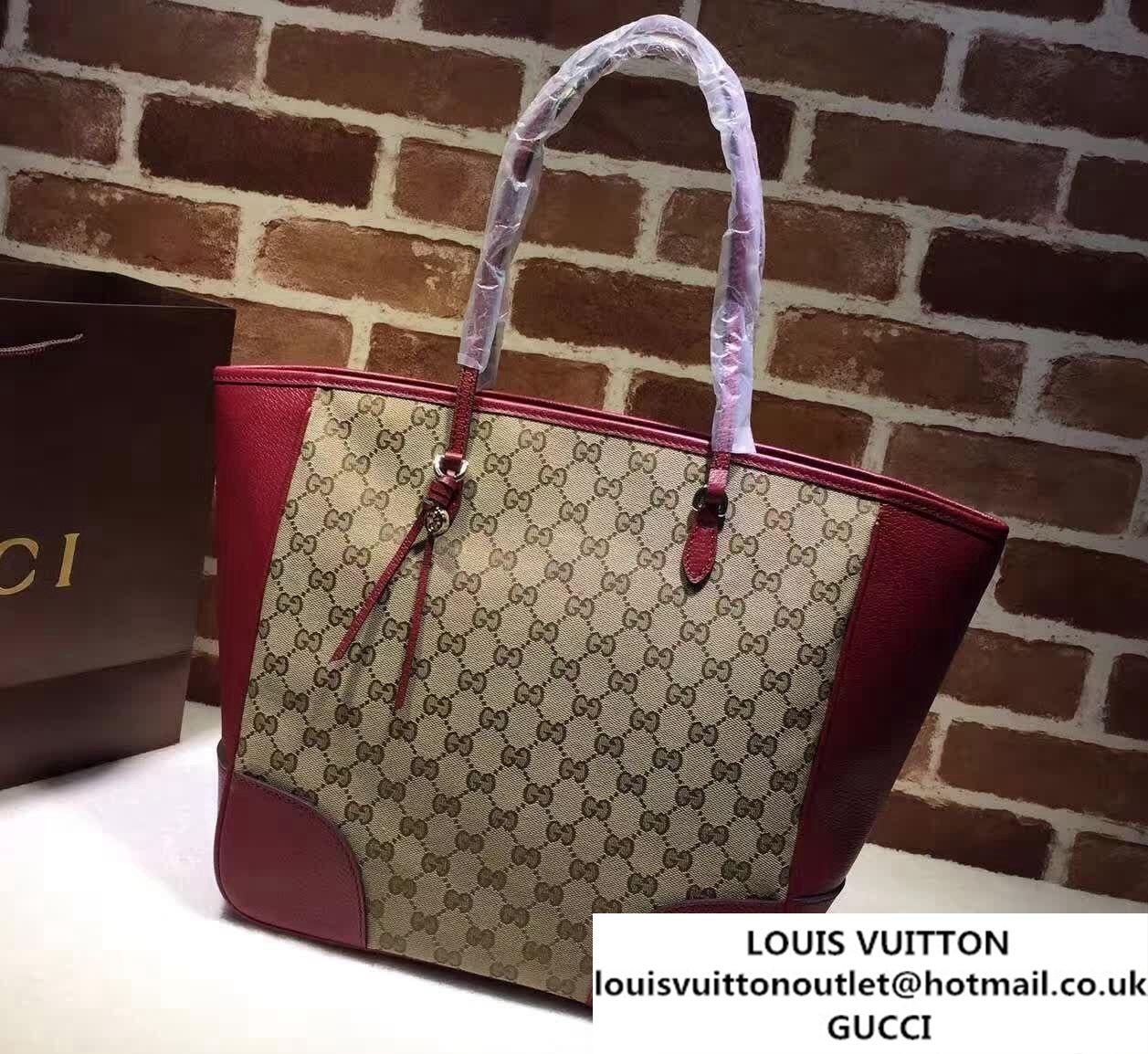 a8e2c56b550 Gucci Bree Original GG Canvas Tote Bag 323671 Red